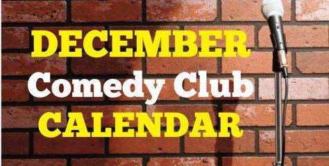 Comedy Club Calendar December 2019