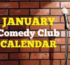 Comedy Club Calendar January 2020