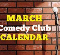 Comedy Club Calendar SW Florida March 2020