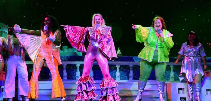 Mamma Mia! on stage at Broadway Palm